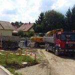 Aushubarbeiten Dietmannsried 2013 2 Doppelhäuser mit Tiefgarage