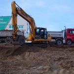 Baugrube ausbaggern